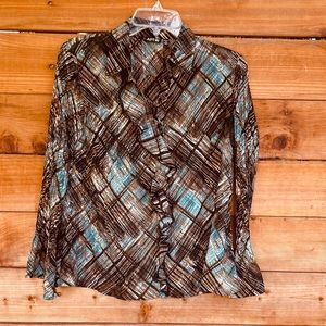 Apt. 9 ruffle button up blouse